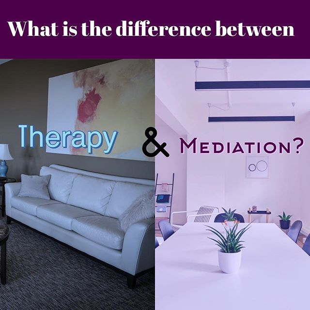Have you ever wondered the difference between mediation and therapy? View this slideshow to know the difference. #mediation #therapy #socialservices #alternativedisputeresolution