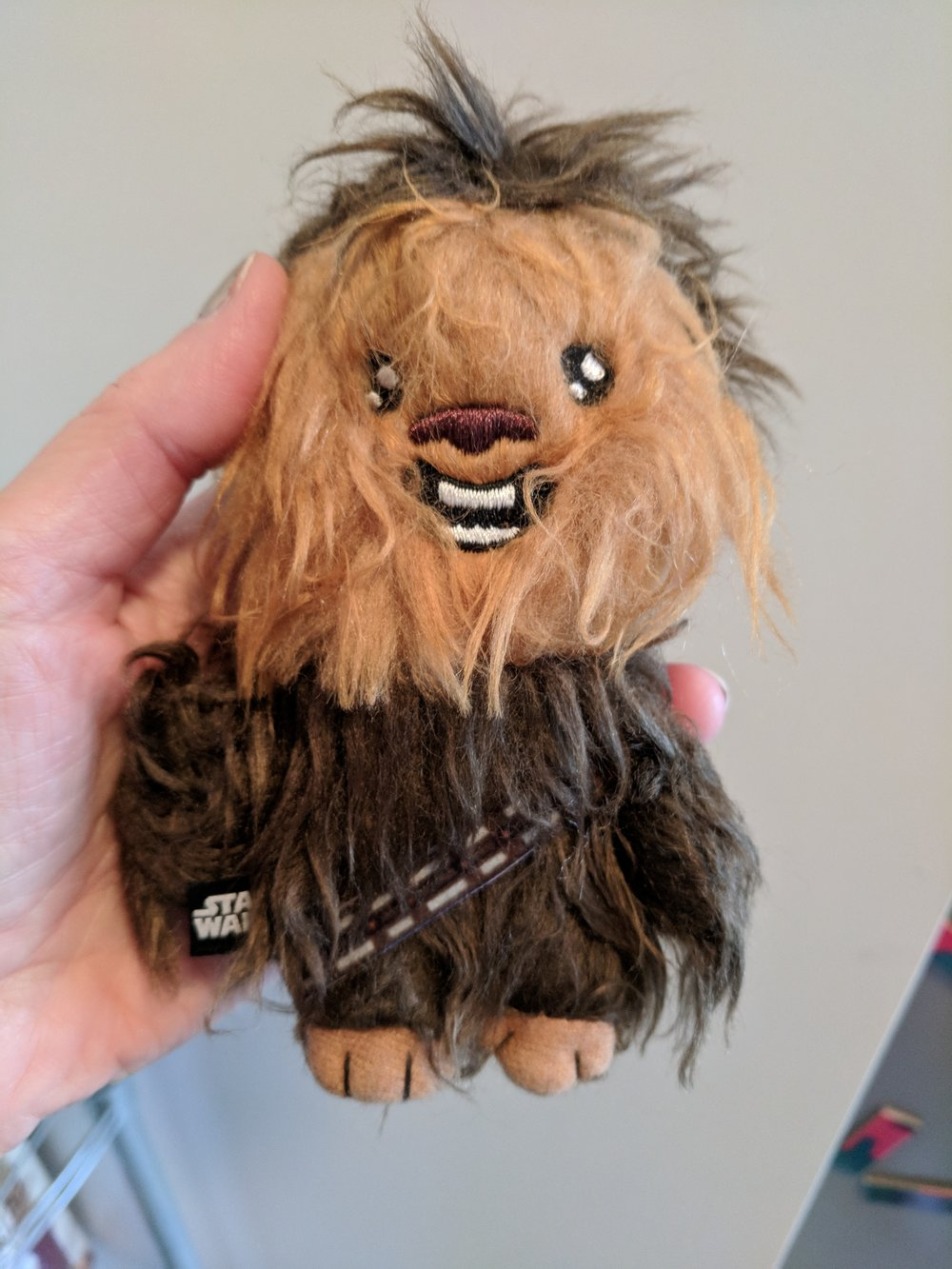 Chewbacca  toy for our cat.