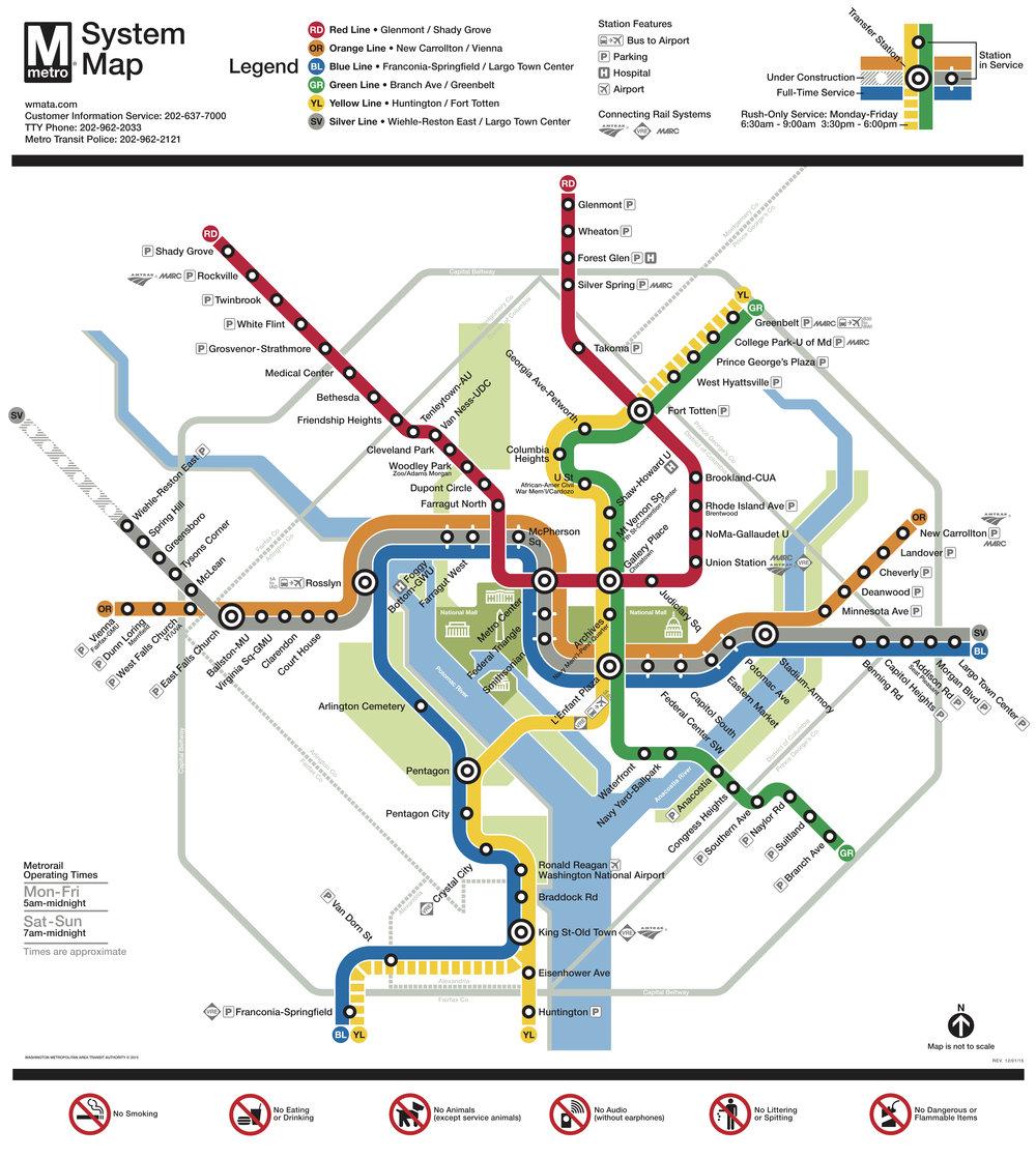 BWI > Metro    BWI > Train    DCA -> Metro