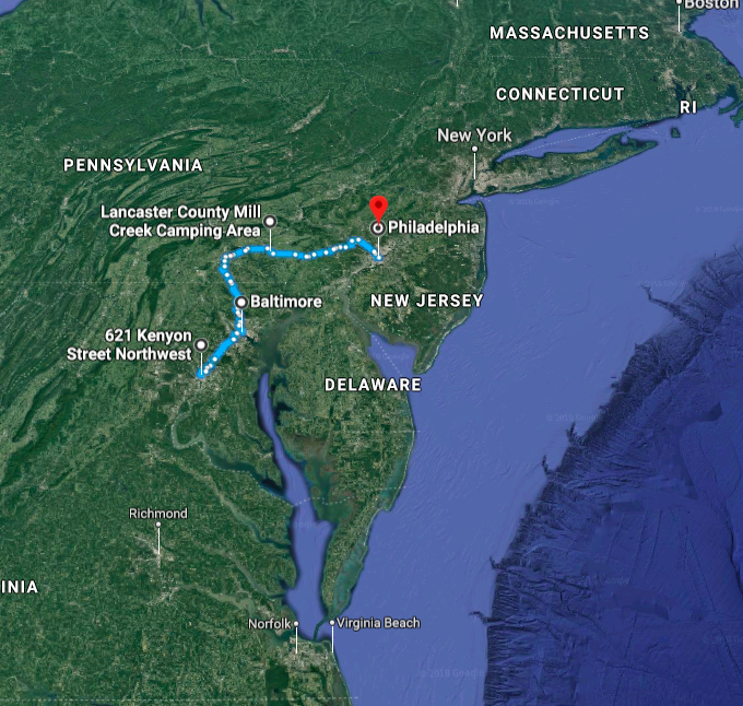 DC>BMORE>LNCSTR>PHILLY - Pre-NACC group ride An uplifting 202 miles out of the (202)Click image for link to route