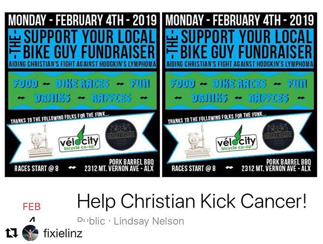 Yo!! Roller race Fundraiser to help out ex courier Christian Myers. FEB 4! Reposted from @fixielinz