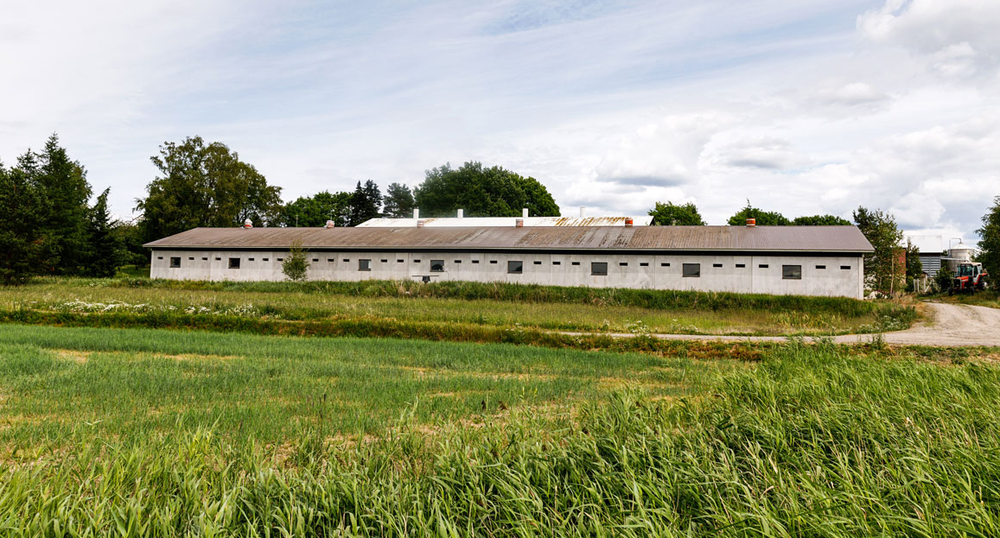 A barn converted for the farming of crickets stands on the Siikonen family farm in Finland