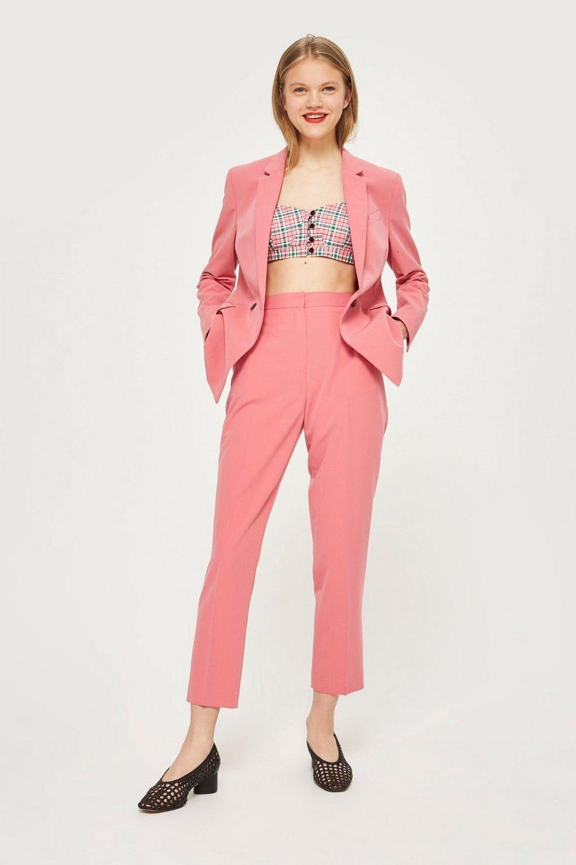 Topshop pink powersuit