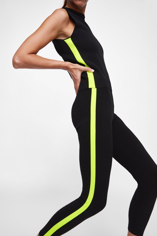 Zara Neon Leggings stylemigrator