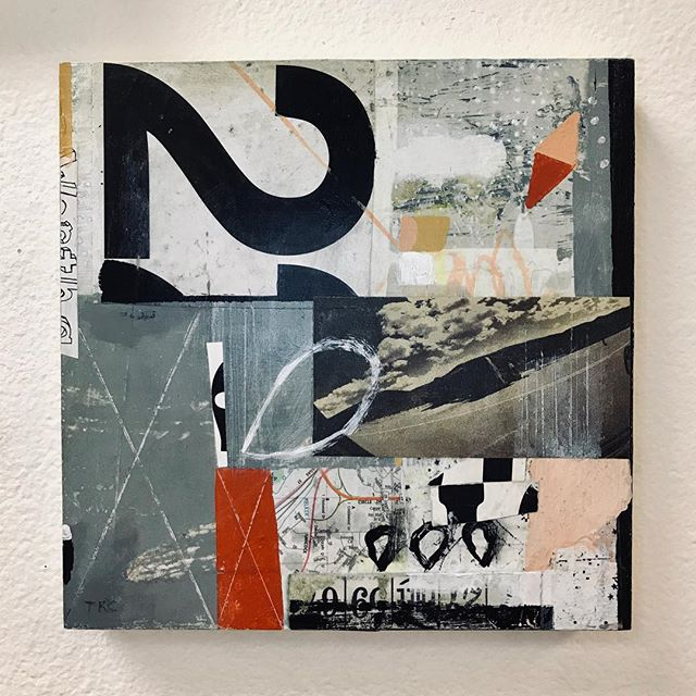 """Newest piece completed today! """"It Happened Here"""" 8x8"""". #art #artist #cottonwoodcenterforthearts  #painting  #mixedmedia"""