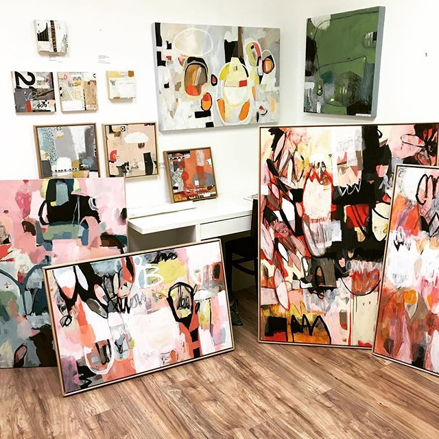 Curating my solo show. And this is only half of my work! This is tough! Come see the show on Friday, December 7 in the back galleries at Cottonwood. Even I don't yet know which pieces will be included :) #cottonwoodcenterforthearts  #artist #arts  #soloshow  #cosprings