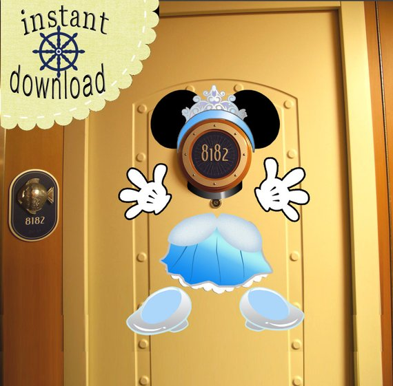 $9.99: Cinderella Disney Cruise Door Magnet