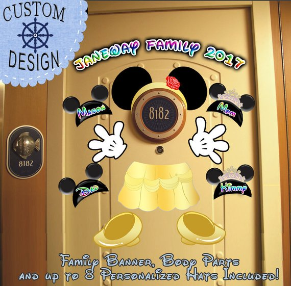 $9.99: Personalized Belle Disney Cruise Door Magnet