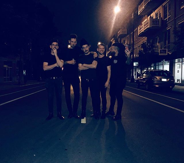 dressed all in black and stayed up all night waiting for our single to drop hope the new fans that haven't heard it like it and can't wait for you all to hear more of our stuff it's so exciting for us that this shit is kicking on and we're releasing our DEBUT FACKN ALBUM!