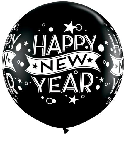 Giant Happy New Year Balloon Inflated Bang Bang Balloons