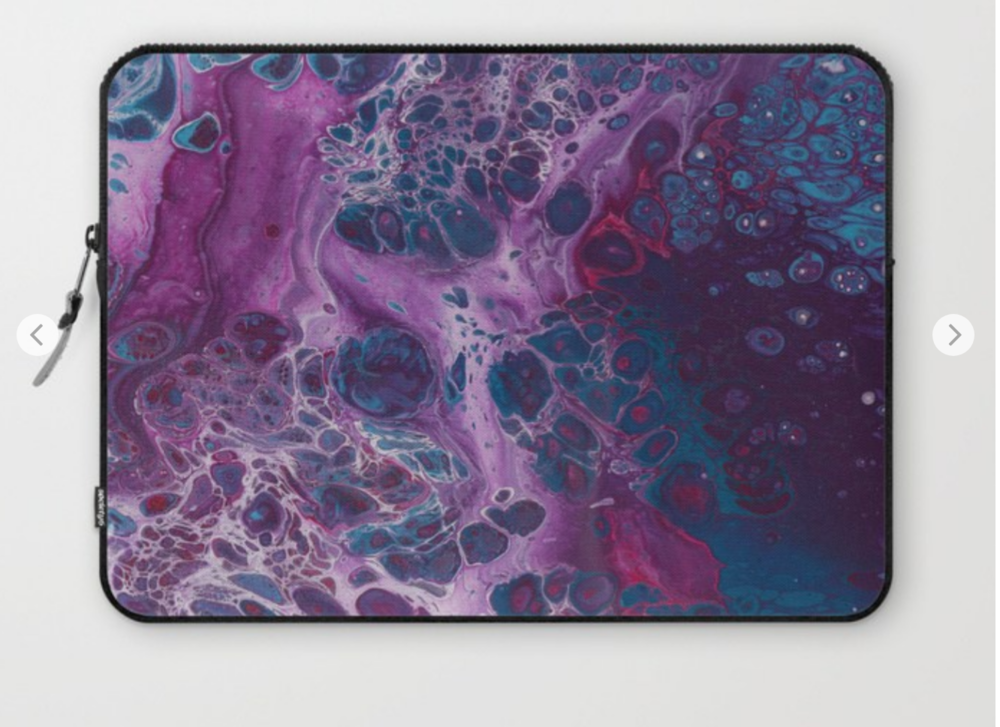 Laptop Sleeves:  - You can purchase laptop sleeves with a variety of my paintings on them via my society6 account!