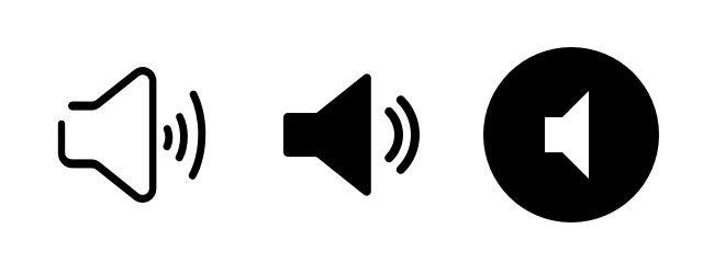 Common speaker icons