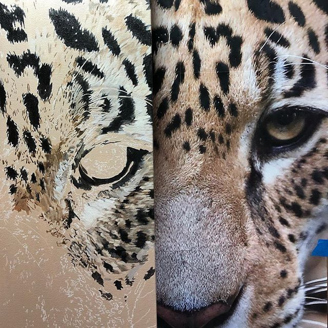 Starting with the eyes... #art #wip #workinprogress #artist #sandiegoartist #jaguar #jaguarpainting #wildlifeart #photorealism #hyperrealism #artstagram #artoftheday #artoninstagram #artofinstagram #fineart #emergingartist #entrepreneur #selftaught #entrepreneurs #sandiegoentrepreneur #acrylicpainting #customart #instaart #instaartwork #painter #artwork #howtopaint #entrepreneurlife #instaartoftheday #monday