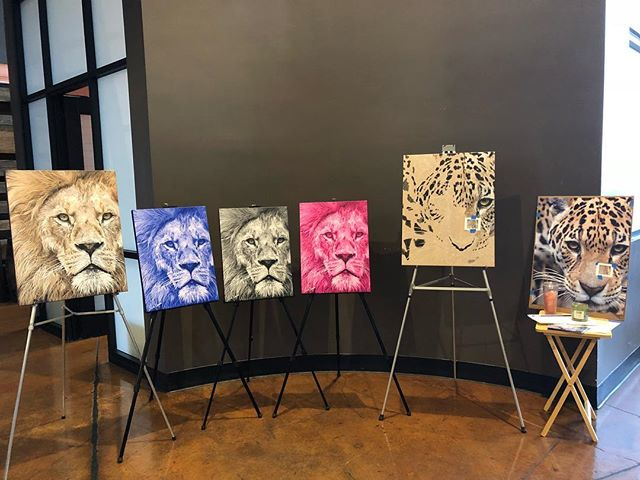 Come see me (and the lions!) painting live tonight at AleSmith Brewing Co. 6-10pm. @abnightmarketsd @alesmithbrewing
