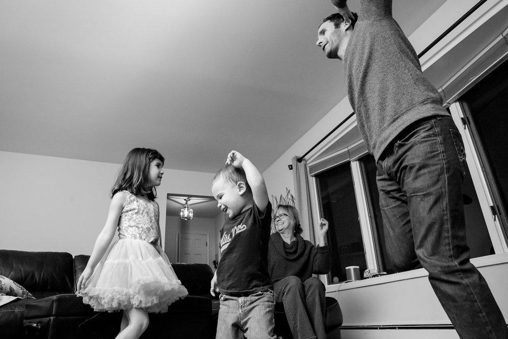 dancing in the living room