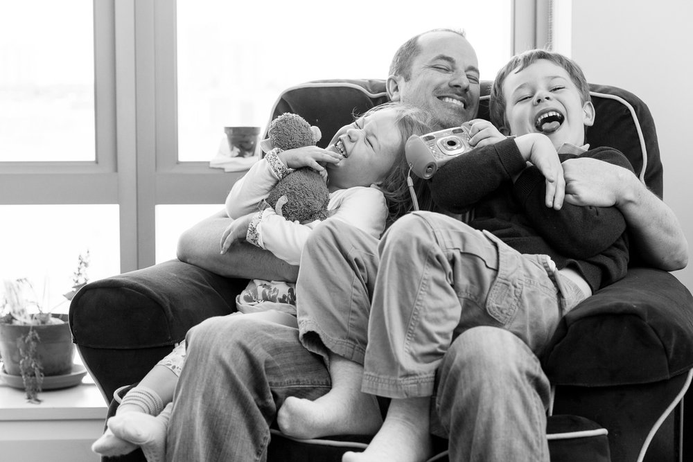 dad and kids