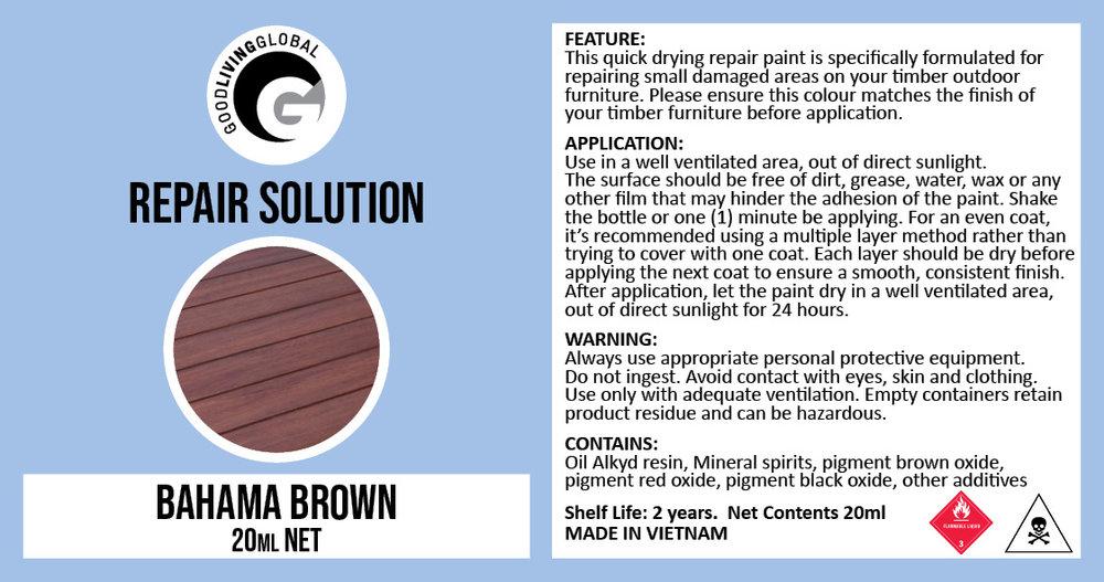 20ml Bahama Brown Repair Solution