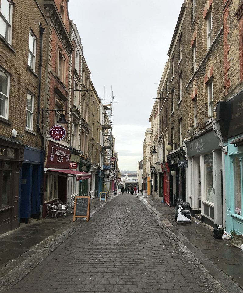 The High Street in Gravesend -