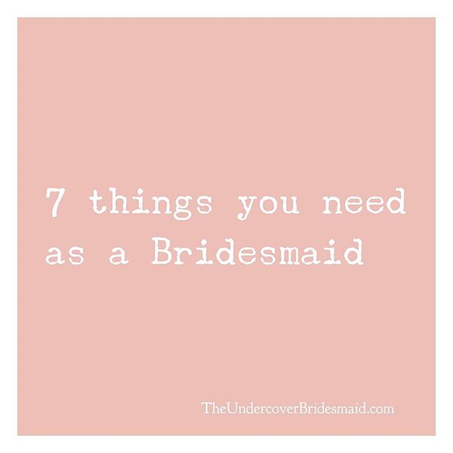Head over to my YouTube channel (www.youtube.com/TiffanyLWright) to find out the 7 most important things you NEED as a bridesmaid! #wedding #weddingphotography #bridesmaiddress #bridesmaidsresses #weddingdress #weddinggown #weddinginspo #weddedbliss #weddingstyle #weddingfun #marryingmybestfriend  #engagement #engaged #justengaged #newlyengaged #bridetobe #engagementring  #realwedding #realbride  #bridalparty #maidofhonour #weddingvenue #weddingceremony #weddingreception