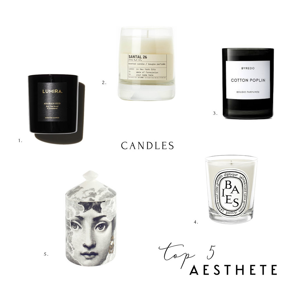 Aesthete Top 5 Candles