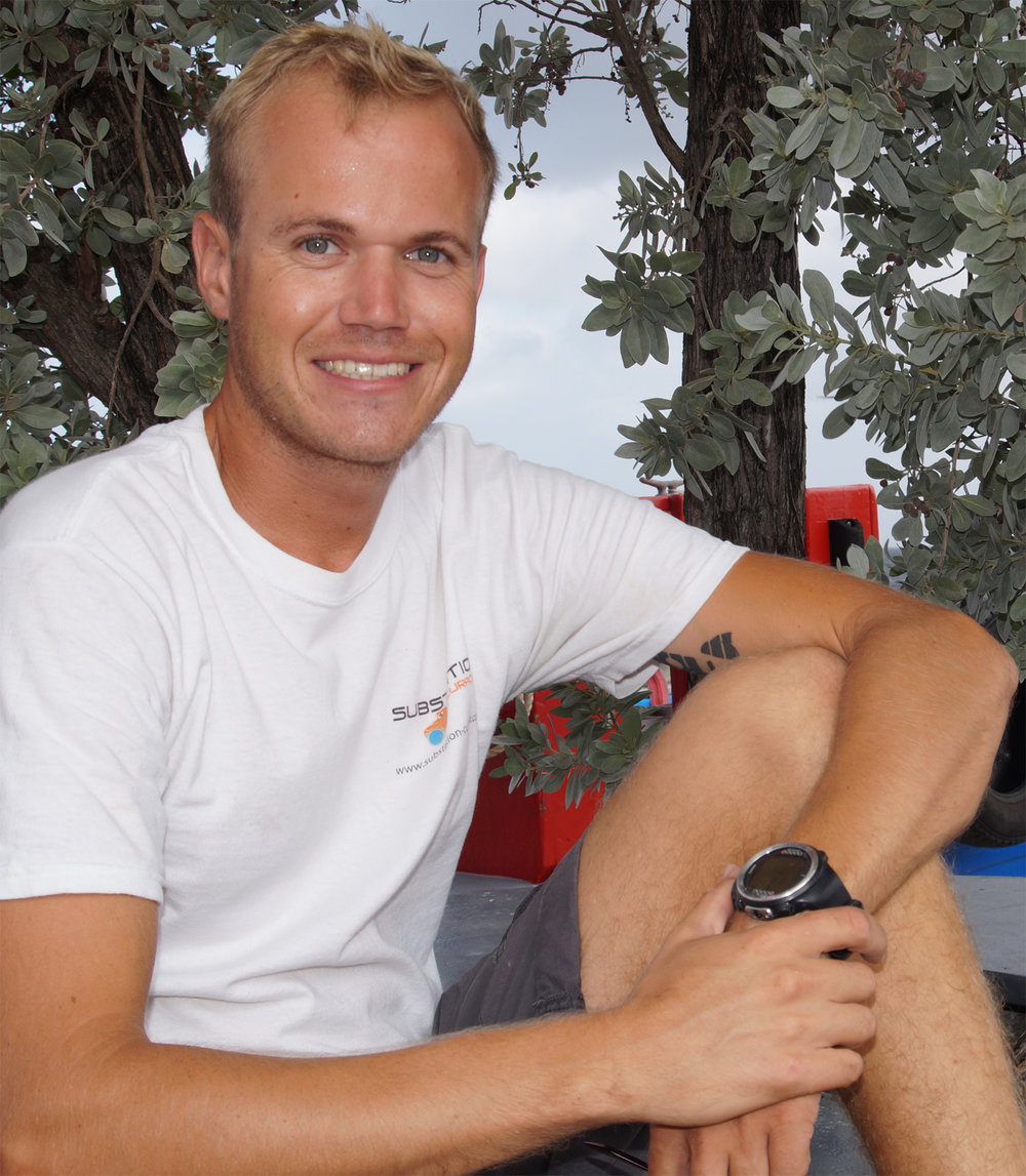 Jordy stolk   Meet the newest addition to our team: Jordy Stolk He was born and raised in the Netherlands and moved to Curacao 3.5yr ago. He has been working as a dive instructor and got curious about what the underwater world more has to offer.  Substation Curacao was the perfect addition to his diving where he now gets to learn about the depths that are limited to scuba diving.