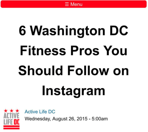 DC FITNESS PROS TO FOLLOW ON INSTAGRAM -