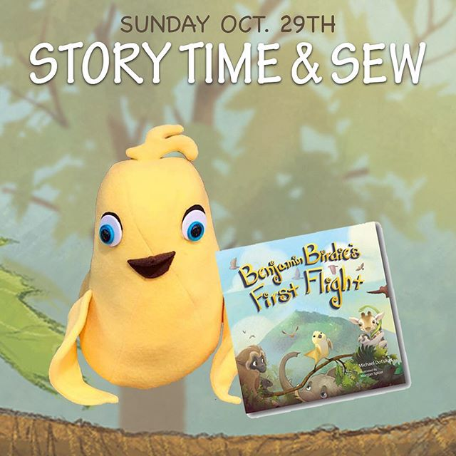 Make your very own Benjamin Birdie @littlemisssewitall this Sunday, Oct. 29th! 🐥 Author book reading, book signing (receive your very own personalized and signed copy) and a fun scavenger hunt to follow all classes! Visit the link in bio to get your tickets!