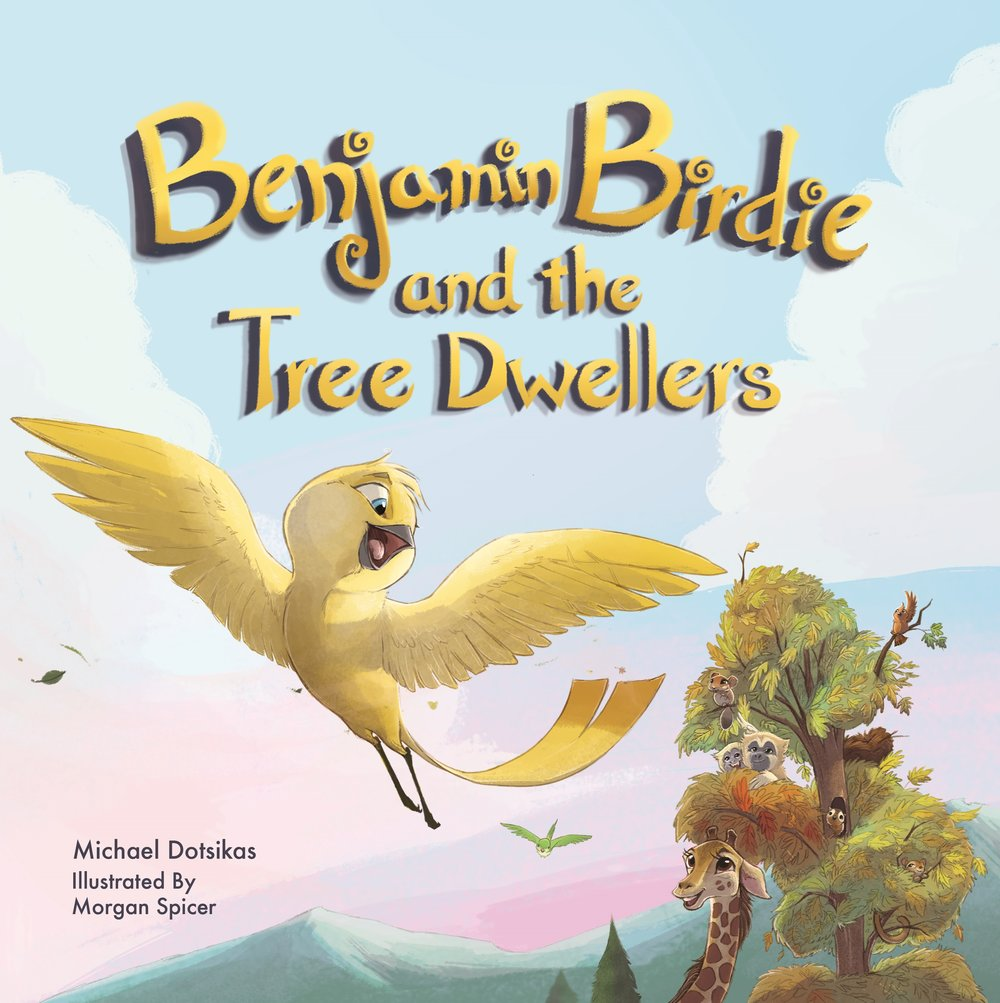 Book 2 is Here! - Benjamin Birdie and the Tree Dwellers, the highly anticipated sequel to the award-winning Benjamin Birdie's First Flight, continues the adventures of Benjamin Birdie in his quest to fly. After an unsuccessful first flight, Benjamin Birdie is still anxious to fly high in the sky like all the other birds. With his wings now grown stronger, and support from his mom, Benjamin is ready to give flying another try. Nervously leaping from his nest, he stumbles at first, but recovers just in time after hearing the encouraging voices of all his tree-dwelling friends cheering him on! Benjamin's newfound flying skills inspire his friends to follow their own dreams and attempt things once thought they couldn't do.Join Benjamin Birdie and his tree-dwelling friends as they learn to believe in themselves, all while seeing just how important it is to be there for a friend when they're not feeling sure of themselves. Sometimes a friend is all you need to find confidence and courage to soar to new, spectacular heights!