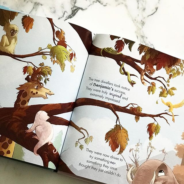 "Today's the day!  Benjamin Birdie and the Tree Dwellers now available on amazon.com and barnesandnoble.com  Here's a sneak peek into book # 2 in the #benjaminbirdiebookseries "" ""The Tree Dwellers took notice of Benjamin's success.  They were truly inspired and extremely impressed.  They were now driven to try something new, something they once thought they just couldn't do."" We could all use a little bit of inspiration 😉"