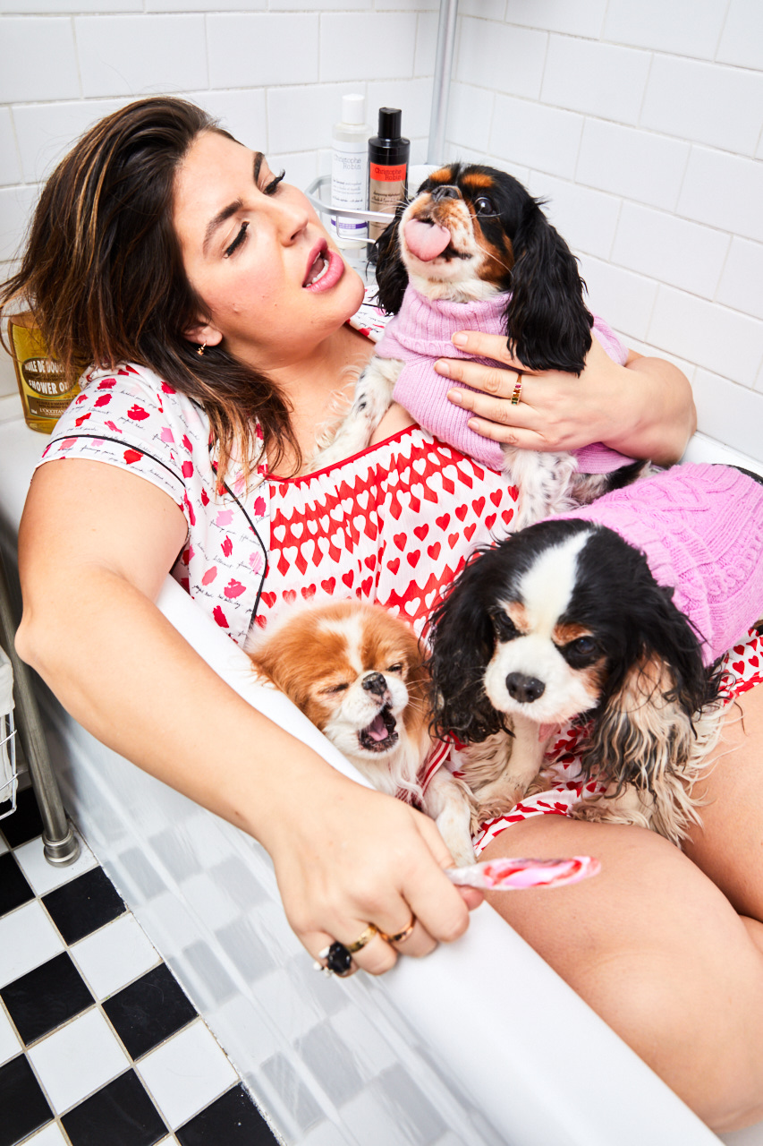 KATIE STURINO   is a New York-based fashion blogger for The12ishStyle, Founder of Megababe Beauty and stage mom to her puppy mill rescue and Instagram-famous dogs, Toast (RIP), Muppet and Pants. Rescue has been a long-standing activity in Sturino's life and she loves helping others find the right dog.