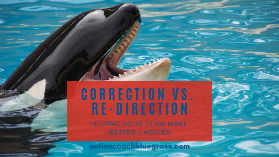 Correction vs. Re-Direction: Helping Your Team Make Better Choices