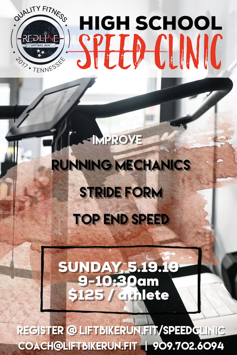 Redline speed clinic is designed for any athlete at all levels of running. each athlete will receive one on one attention and feedback. Our goal is to provide athletes with personalized goals to improve upon specific to running. -
