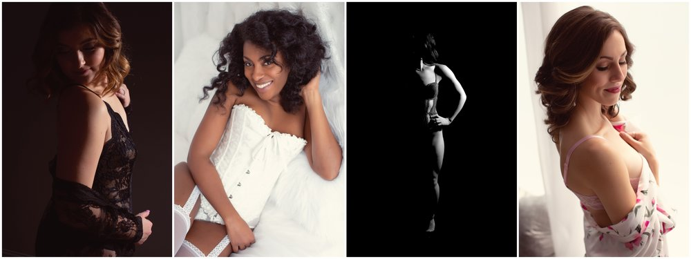 Photos taken of real client (not models!) at the Chicago Boudoir Photography studio