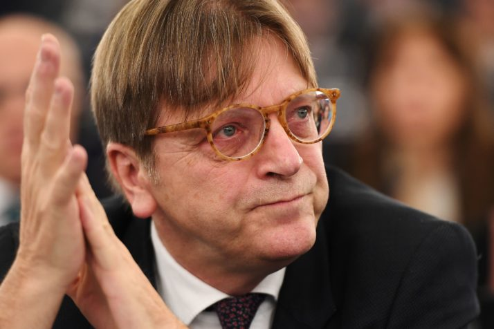 Guy Verhofstadt sits in session at the European Parliament - Image Credit unknown, presumed Cynthia Kroet of Politico|Getty Images