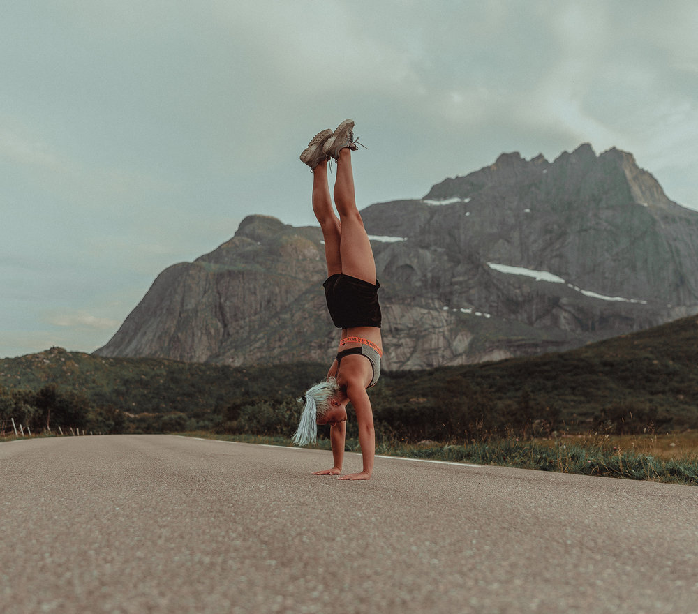 Handstand with a view...