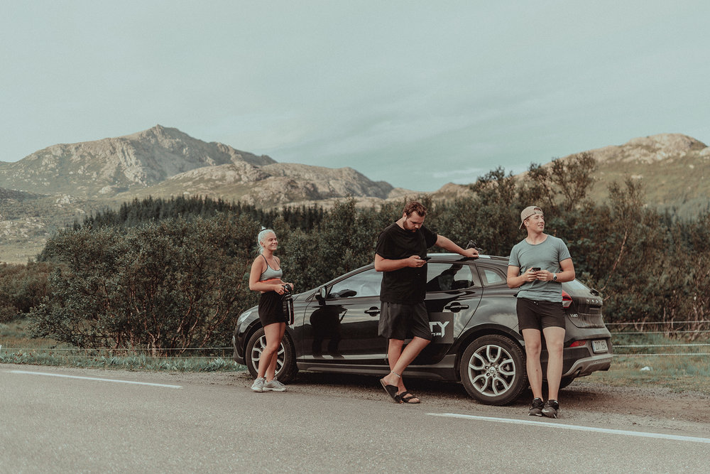 Part of the crew... Magda, Timothy and Ludvig. And ofc the Volvo V40, loved to drive that car!