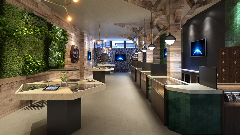 RETAIL / TILT Dispensaries Rendering