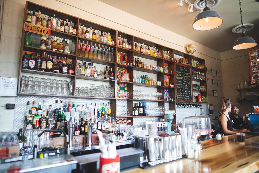 Full bar at Buteco.