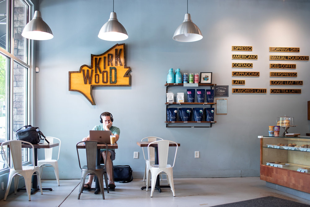 Taproom Coffee is proud of its Kirkwood location and community.