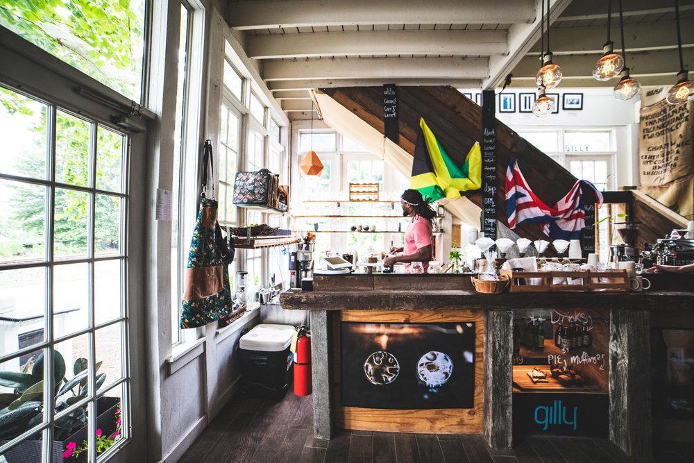 Gilly Brew Bar interior.
