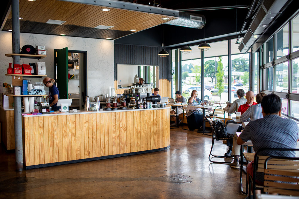 Interior of Spiller Park Coffee in Toco Hills.