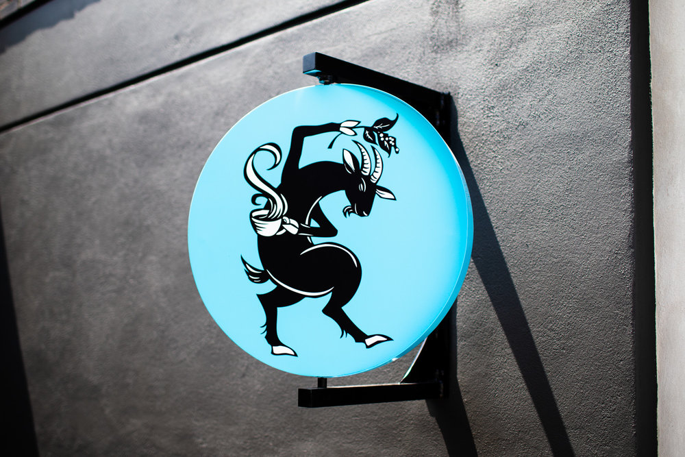 The Dancing Goats logo (this logo rotates).
