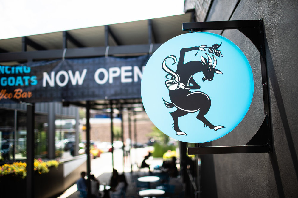 """The """"Now Open"""" signs were evident in front and behind the store for a couple of months after the grand opening."""
