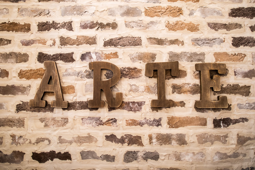 Art at Arte3 Cafe.