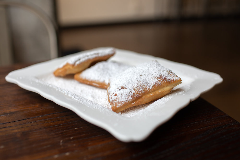 The beignets at Caffé Bella. Warm and delicious!