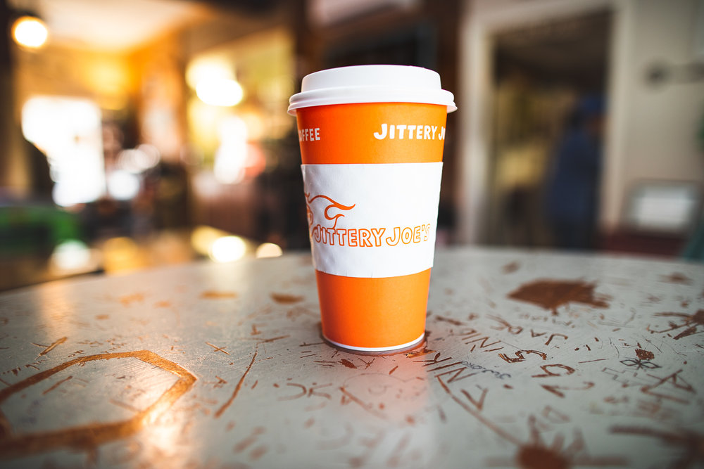 Grayson Coffee House is partnered with  Jittery Joe's coffee  (based in Athens, GA).