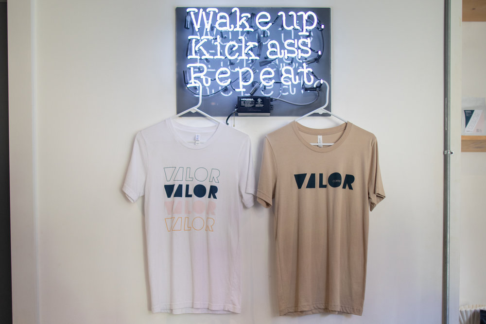 Valor t-shirts for sale. Also available in their  online store .