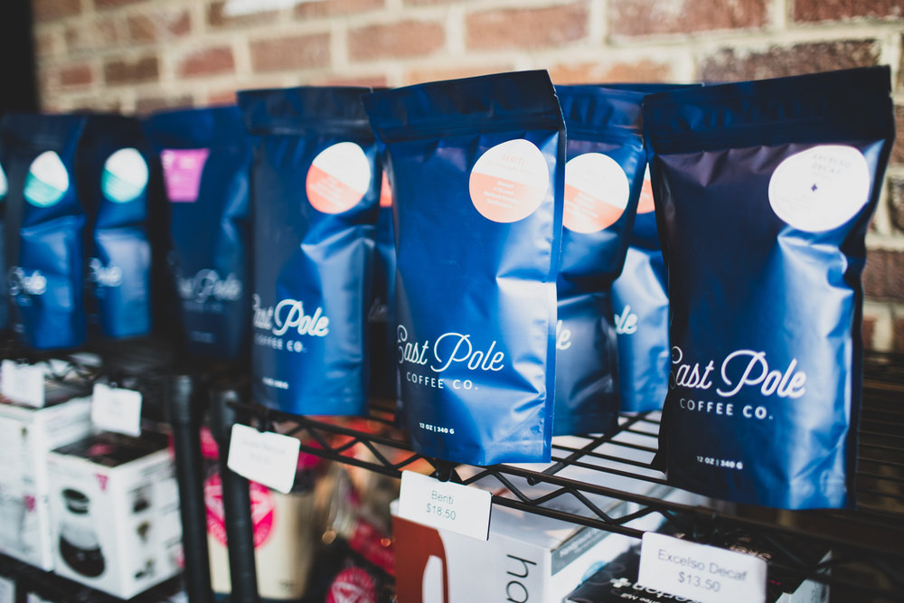 Since Copper Coin is partnered with East Pole Coffee Company, you can buy their freshly roasted beans at Copper Coin,