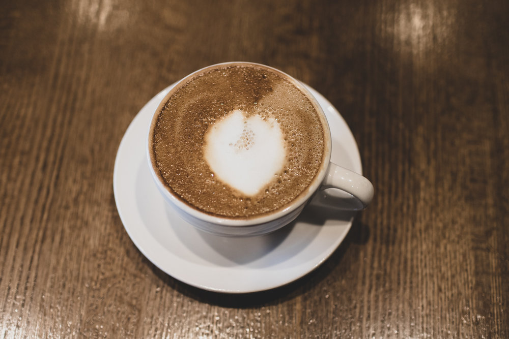 A cappuccino.