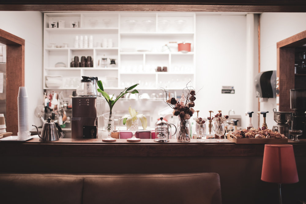 A beautiful, cozy corner at Cafe Rothem.  This photo was featured  on the Atlanta Coffee Shops  Instagram  page.